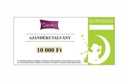 AJÁNDÉKUTALVÁNY 10.000,- FT