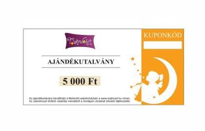 AJÁNDÉKUTALVÁNY 5.000,- FT