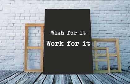 WORK FOR IT BLACK VÁSZONKÉP