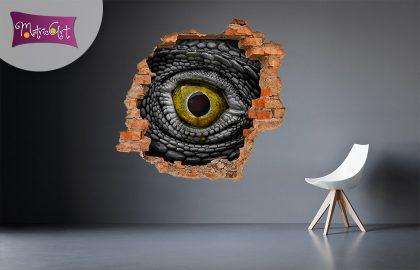 3D KITÖRT FAL FALMATRICA FÉLELEM